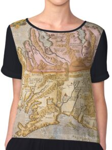 Vintage Map of Iceland (1590) Chiffon Top