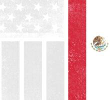 Mexican American Flag - Half Mexican Half American  Sticker