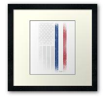 Dutch American Flag - Half Dutch Half American Framed Print
