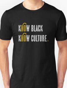 KNOW BLACK. KNOW CULTURE. (White) Unisex T-Shirt