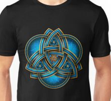 Blue Celtic Triquetra Unisex T-Shirt