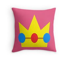 PEACH'S CROWN Throw Pillow