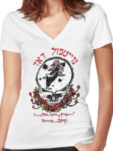 The Original Dead From Israel Women's Fitted V-Neck T-Shirt