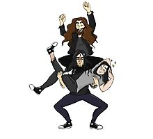 The Conspirators - Cartoon Version  Photographic Print