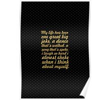 "My life has been... ""Maya Angelou"" Inspirational Quote Poster"
