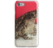 Frog Afraid to Move iPhone Case/Skin