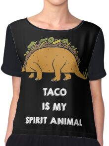 Taco is my Spirit Animal Chiffon Top