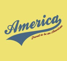 America Proud To Be American Baby Tee