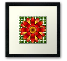 Red and Greeen flowers Framed Print