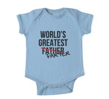 World's Greatest Farter Father One Piece - Short Sleeve