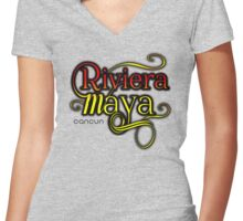 Riviera Maya, Cancun Mexico Women's Fitted V-Neck T-Shirt