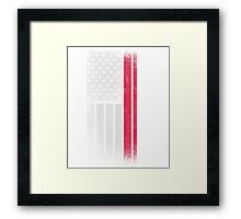 Polish American Flag - Half Polish Half American Framed Print