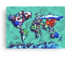 world map flags Canvas Print