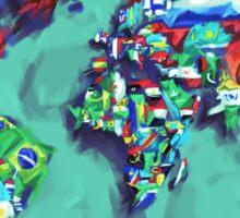 world map flags Sticker