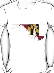 Maryland Flag [Blk]   State Line   SteezeFSC T-Shirt