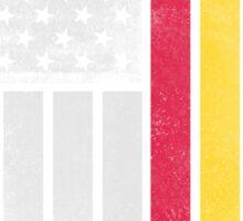 Romanian American Flag - Half Romanian Half American  Sticker