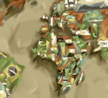world map flags 2 Sticker
