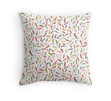 Rainbow confetti sprinkles Throw Pillow