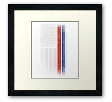 Russian American Flag - Half Russian Half American Framed Print