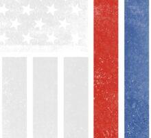 Russian American Flag - Half Russian Half American Sticker