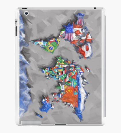 world map flags 3 iPad Case/Skin