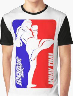 muay thai fighter thailand martial art sport logo badge sticker shirt Graphic T-Shirt