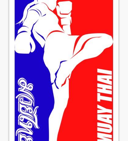 muay thai fighter thailand martial art sport logo badge sticker shirt Sticker