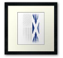 Scottish American Flag - Half Scottish Half American Framed Print