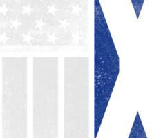 Scottish American Flag - Half Scottish Half American Sticker