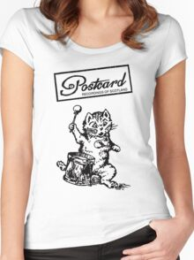Postcard Records T shirt Women's Fitted Scoop T-Shirt