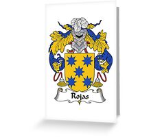 Rojas Coat of Arms/Family Crest Greeting Card