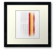 Spanish American Flag - Half Spanish Half American Framed Print