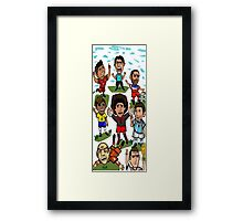 The World Cup Toons Framed Print
