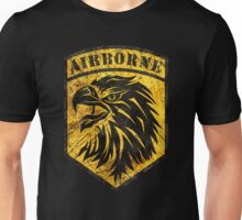 Airborne Shield Vintage Yellow Unisex T-Shirt