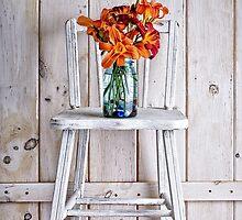 Fresh Day Lilly Flowers  by Edward Fielding