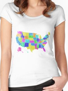 United States of America States - All USA States Women's Fitted Scoop T-Shirt