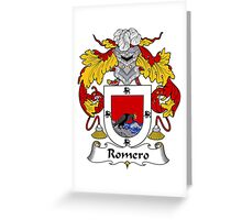 Romero Coat of Arms/Family Crest Greeting Card