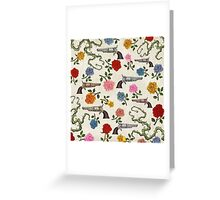 Sweet Guns and Roses Greeting Card