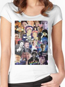 Sherlock collage 1 Women's Fitted Scoop T-Shirt