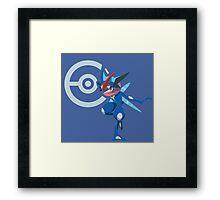 Ash Greninja Pokémon Collection Framed Print