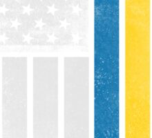 Swedish American Flag - Half Swede Half American Sticker