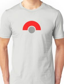 Abstract Grey Ball with Red Unisex T-Shirt