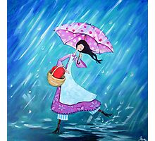 I will dance through the rain with you Photographic Print