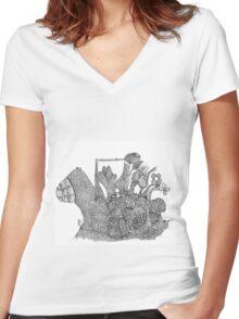 The garden village Women's Fitted V-Neck T-Shirt