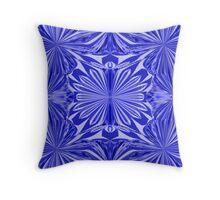 Blue Marigolds Throw Pillow