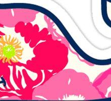 Pink Whale Sticker