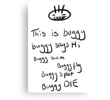 Buggy rhyme Canvas Print