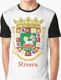 Rivera Shield of Puerto Rico Graphic T-Shirt