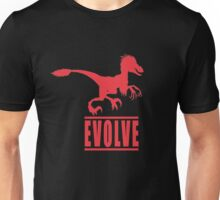 Evolve, with Raptor Unisex T-Shirt