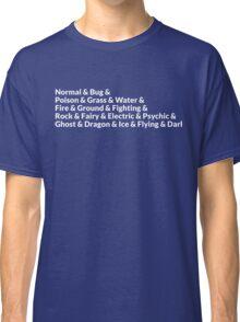 Pokemon Types Classic T-Shirt